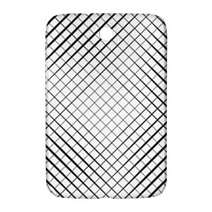 Simple Pattern Waves Plaid Black White Samsung Galaxy Note 8 0 N5100 Hardshell Case  by Mariart