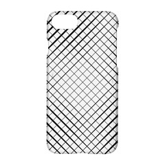 Simple Pattern Waves Plaid Black White Apple Iphone 7 Hardshell Case by Mariart