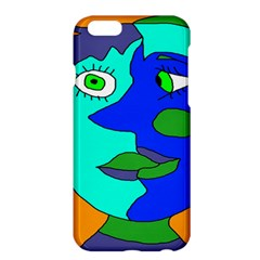 Visual Face Blue Orange Green Mask Apple Iphone 6 Plus/6s Plus Hardshell Case by Mariart