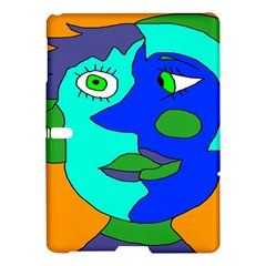 Visual Face Blue Orange Green Mask Samsung Galaxy Tab S (10 5 ) Hardshell Case  by Mariart