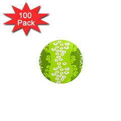 Sunflower Green 1  Mini Magnets (100 Pack)  by Mariart