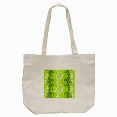 Sunflower Green Tote Bag (cream) by Mariart