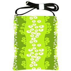 Sunflower Green Shoulder Sling Bags by Mariart