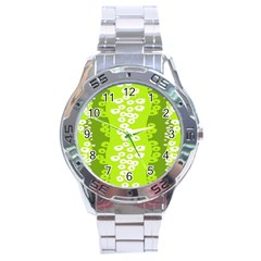 Sunflower Green Stainless Steel Analogue Watch by Mariart