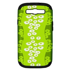 Sunflower Green Samsung Galaxy S Iii Hardshell Case (pc+silicone) by Mariart