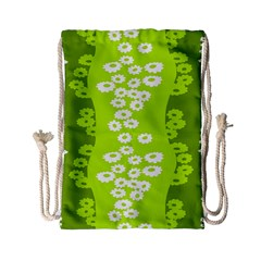 Sunflower Green Drawstring Bag (small) by Mariart