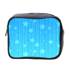 Star Blue Sky Space Line Vertical Light Mini Toiletries Bag 2 Side by Mariart
