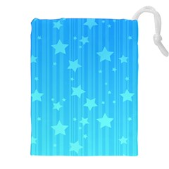 Star Blue Sky Space Line Vertical Light Drawstring Pouches (xxl) by Mariart