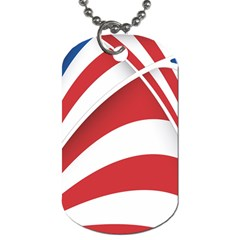 American Flag Star Blue Line Red White Dog Tag (two Sides) by Mariart