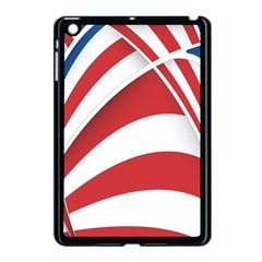 American Flag Star Blue Line Red White Apple Ipad Mini Case (black) by Mariart