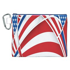 American Flag Star Blue Line Red White Canvas Cosmetic Bag (xxl) by Mariart