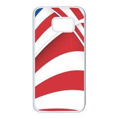 American Flag Star Blue Line Red White Samsung Galaxy S7 White Seamless Case by Mariart
