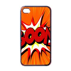 Boom Sale Orange Apple Iphone 4 Case (black) by Mariart