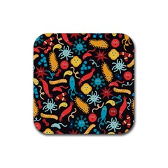 Worm Insect Bacteria Monster Rubber Square Coaster (4 Pack)  by Mariart