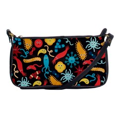 Worm Insect Bacteria Monster Shoulder Clutch Bags by Mariart