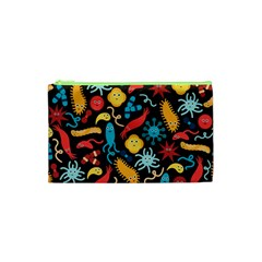 Worm Insect Bacteria Monster Cosmetic Bag (xs) by Mariart