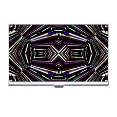 Dark Ethnic Sharp Bold Pattern Business Card Holders by dflcprints