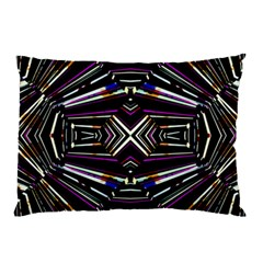 Dark Ethnic Sharp Bold Pattern Pillow Case by dflcprints