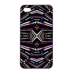 Dark Ethnic Sharp Bold Pattern Apple Iphone 4/4s Seamless Case (black) by dflcprints