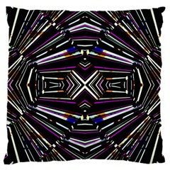 Dark Ethnic Sharp Bold Pattern Large Cushion Case (two Sides) by dflcprints