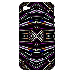 Dark Ethnic Sharp Bold Pattern Apple Iphone 4/4s Hardshell Case (pc+silicone) by dflcprints