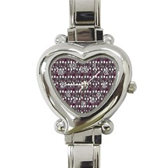 Circles Dots Background Texture Heart Italian Charm Watch by Mariart