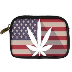 Flag American Star Blue Line White Red Marijuana Leaf Digital Camera Cases by Mariart