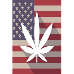 Flag American Star Blue Line White Red Marijuana Leaf 5 5  X 8 5  Notebooks by Mariart