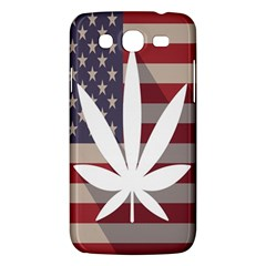 Flag American Star Blue Line White Red Marijuana Leaf Samsung Galaxy Mega 5 8 I9152 Hardshell Case  by Mariart