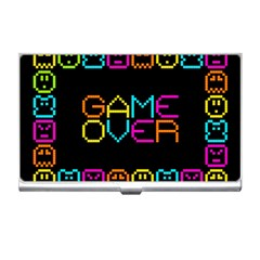Game Face Mask Sign Business Card Holders by Mariart
