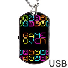 Game Face Mask Sign Dog Tag Usb Flash (two Sides) by Mariart