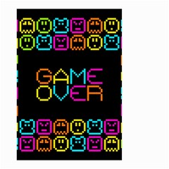 Game Face Mask Sign Small Garden Flag (two Sides) by Mariart