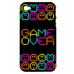 Game Face Mask Sign Apple Iphone 4/4s Hardshell Case (pc+silicone) by Mariart
