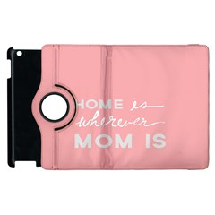 Home Love Mom Sexy Pink Apple Ipad 3/4 Flip 360 Case by Mariart