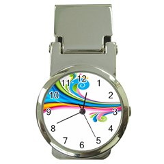 Colored Lines Rainbow Money Clip Watches by Mariart