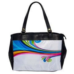 Colored Lines Rainbow Office Handbags by Mariart