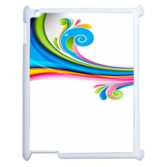 Colored Lines Rainbow Apple Ipad 2 Case (white) by Mariart