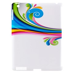 Colored Lines Rainbow Apple Ipad 3/4 Hardshell Case (compatible With Smart Cover) by Mariart