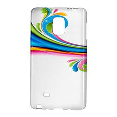Colored Lines Rainbow Galaxy Note Edge by Mariart