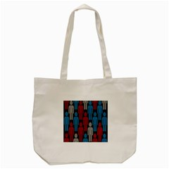 Human Man People Red Blue Grey Black Tote Bag (cream) by Mariart