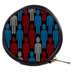 Human Man People Red Blue Grey Black Mini Makeup Bags by Mariart