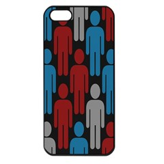 Human Man People Red Blue Grey Black Apple Iphone 5 Seamless Case (black) by Mariart