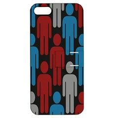 Human Man People Red Blue Grey Black Apple Iphone 5 Hardshell Case With Stand by Mariart