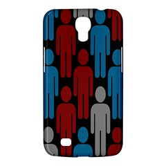 Human Man People Red Blue Grey Black Samsung Galaxy Mega 6 3  I9200 Hardshell Case by Mariart
