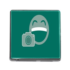 Laughs Funny Photo Contest Smile Face Mask Memory Card Reader (Square) by Mariart