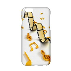 Isolated Three Dimensional Negative Roll Musical Notes Movie Apple Iphone 6/6s Hardshell Case by Mariart