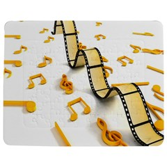 Isolated Three Dimensional Negative Roll Musical Notes Movie Jigsaw Puzzle Photo Stand (rectangular) by Mariart