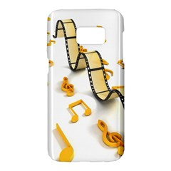 Isolated Three Dimensional Negative Roll Musical Notes Movie Samsung Galaxy S7 Hardshell Case  by Mariart