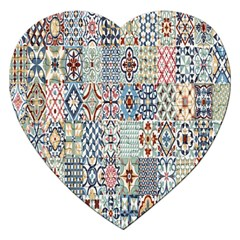 Deco Heritage Mix Jigsaw Puzzle (heart) by Mariart