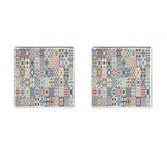 Deco Heritage Mix Cufflinks (square) by Mariart